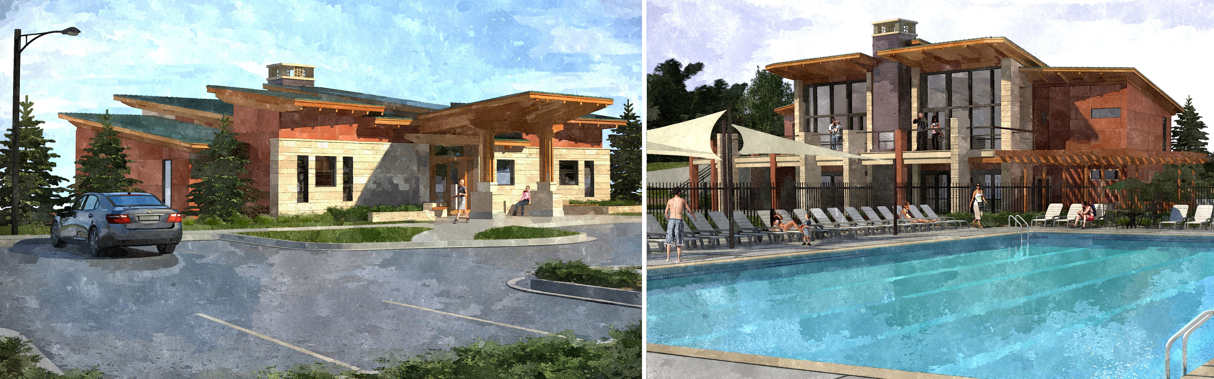 Pool clubhouse design modern home design ideas for Clubhouse architecture design
